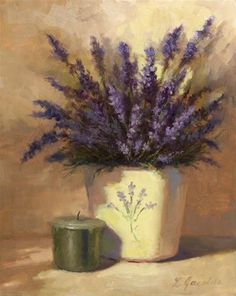 DPW Fine Art Friendly Auctions - Lavender Bouquet by Linda Jacobus