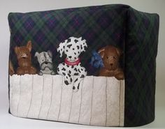 Toaster Cover with Puppies by PatsysPatchwork on Etsy, $18.00