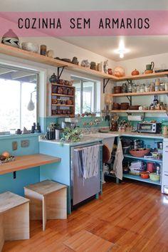 Cozinha sem armários. As vezes não temos outra solução.