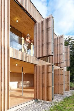 Wood Architecture Johannes Kaufmann - Atelier Dreibholz, Semriach Via (thanks BFC), photos (. Wood Architecture, Contemporary Architecture, Architecture Details, Contemporary Stairs, Contemporary Building, Contemporary Wallpaper, Contemporary Chandelier, Contemporary Landscape, Design Exterior