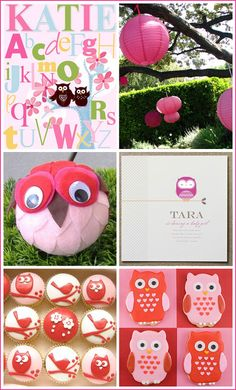 Some more owl ideas for the baby shower