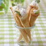Photo de la recette : Cornets de saumon fumé et ricotta