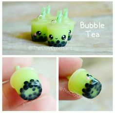 Polymer clay bubble tea