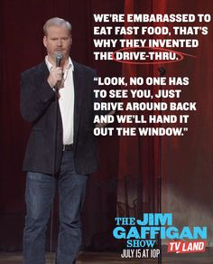 You know what Jim's talking about. Now hand me the Shake Shack bag and watch THE JIM GAFFIGAN SHOW starring Jim Gaffigan. Click to discover full episodes.