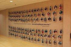 Employee picture wall or could also be a donor recognition wall. Come up with some theme and take a funny picture of each person who donates. Office Break Room, Office Walls, Office Art, Office Boards, School Office, Office Ideas, Picture Wall, Photo Wall, Staff Lounge