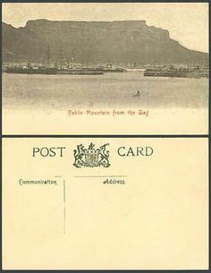 South Africa Cape Town Table Mountain from The Bay Ships Boats Pier Old Postcard   eBay