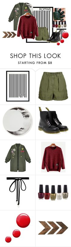 """burgundy sweater!"" by anchesky ❤ liked on Polyvore featuring Eleanor Stuart, Topshop, Fornasetti, Dr. Martens, WithChic, Joomi Lim and WALL"