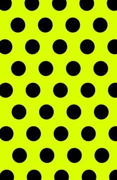 yellow // black // polka dots