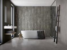 resine per pareti e pavimenti Spaziocontinuo di Litokol con effetti metallo, cemento e chiaroscuro Bathtub, Bathroom, Standing Bath, Washroom, Bath Tub, Bath Room, Tubs, Bathrooms, Bathtubs