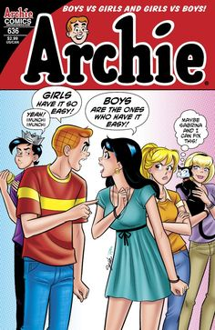 Gender Swapped Archie Because Why Not? Archie - the guys and girls switch sexes, thanks to Sabrina's magic!Archie - the guys and girls switch sexes, thanks to Sabrina's magic! Archie Comics Characters, Archie Comic Books, Archie Comics Strips, Book Characters, Archie Comics Riverdale, Bill Ward, Old Comics, Vintage Comics, Vintage Art