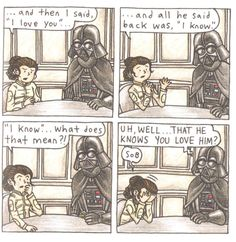 Image result for darth vader and his little princess