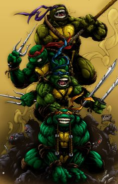 Teenage Mutant Ninja Turtles my little bro and I were obsessed with theses guys