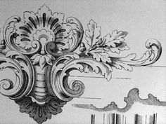 Ornament Drawings – Deanna M. Wood Carving Patterns, Carving Designs, Arabesque, Gothic Pattern, Ornament Drawing, Angel Drawing, Plaster Art, Pattern Drawing, Floral Illustrations