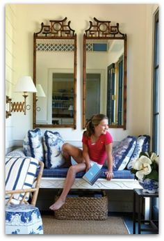 Create your own blissful sitting nook {with just 3 things} mirrors