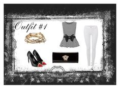 """Outfit #1"" by kyliefrazier16 ❤ liked on Polyvore featuring WearAll, 7 For All Mankind, Yves Saint Laurent, Majique and Versace"