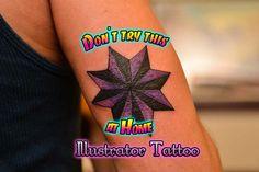 Custom eight point star at the Illustrator Tattoo.