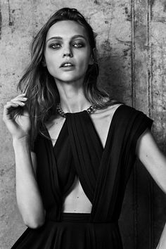 Yves Saint Laurent - SAINT LAURENT Resort 2014 Campaign  In this picture:Sasha Pivovarova