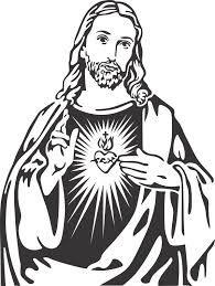 Resultado de imagem para sagrado coração de jesus preto e branco