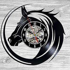 Horse Head Vinyl Record Wall Clock | Zana Horse