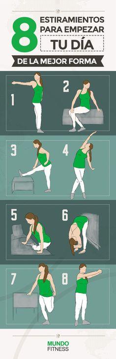 8 #estiramientos para empezar tu día de la mejor forma.