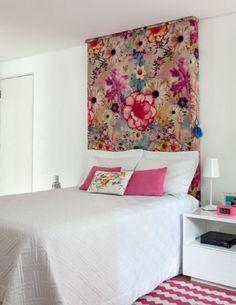 Reforma Casa Itaim / Consuelo Jorge #bedroom #pink #cabeceira