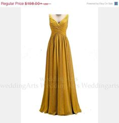 Check out on sale Bridal dress FORMAL dress A-line chiffon dress prom dress with straps  Custom 120 colors Any size on weddingarts