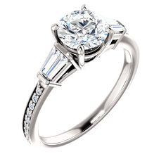 1.0 Ct Round Diamond #Engagement #Ring 14k White Gold – Goldia.com