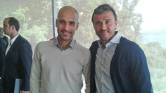 .@LuisEnrique21 joined the coaches of several other elite clubs, including Pep Guardiola