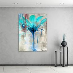 Brighten any wall in your home or office with this 'Painted Petals LII' canvas wall art from Ready2hangart. A stunning vision in blue, this recreation of a natural flower by celebrated artist Alexis B