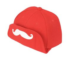 Flipped Brim Moustache Snapback Cap - Swag, Style, Fashion,