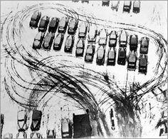 Parking lot in Chicago László Moholy-Nagy, 1938 Vintage Photography, Fine Art Photography, Street Photography, Artistic Photography, Laura Makabresku, Chicago C, Chicago Parking, Laszlo Moholy Nagy, Photojournalism
