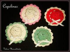Capelinas  | Valora manualidades www.valoraweb.blogspot.com.ar #crochet #souvenirs