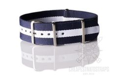 NATO Regimental Strap Navy and White
