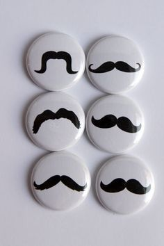 Moustache Flair buttons by kidsmom1999 on Etsy, $6.00