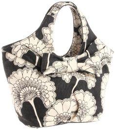 Kate Spade New York Japanese Floral Fabric Large Tate Shoulder Bag,Black/Cream/Floral,One Size