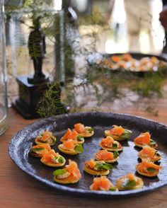Salmon Canapé at Newstead Wines Salmon Canapes, Wine Sale, Wines, Sushi, Vineyard, Bubbles, Ethnic Recipes, Food, Vine Yard