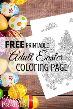 Adult coloring page- Easter is a great stress reliever activity for teens and younger ones too! Coloring is the best stress reliever!