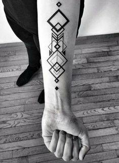 Top 50 Best Geometric Tattoos- Top 50 Beste Geometrische Tattoos geometric tattoo on the arm - Forearm Tattoos, Body Art Tattoos, New Tattoos, Tattoos For Guys, Tatoos, Tattoo Art, Wing Tattoos, Fake Tattoos, Music Tattoos