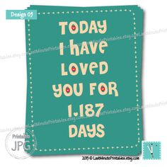 Today I Have Loved You For - love you is anniversary gift valentine template card personalized notecard heart wedding boyfriend diy fun