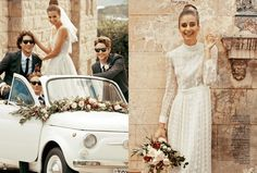 Wedding Car Garland  Cosmo Bride Styled Shoot Flowers by Oh Flora