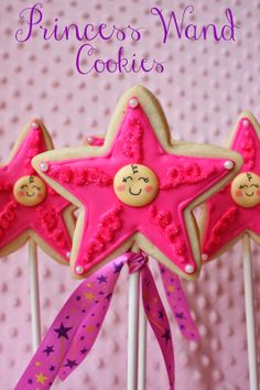 Princess Wand Cookies for a Virtual Baby Shower by Munchkin Munchies.
