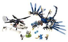 Fly the LEGO Ninjago Lightning Dragon Battle to rescue Sensei Wu! Frakjaw and Kruncha have captured Sensei Wu and stole the nunchucks of lightn Lego Ninjago, Ninjago Dragon, Power Rangers, Lightning Dragon, Lego Craft, Buy Lego, Shop Lego, Lego Parts, Lego Building