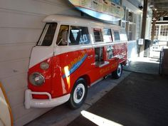 VW bus serving window at a cafe on Pier 39 in San Francisco, CA. Love Frisco!