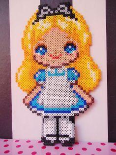 Alice in Wonderland perler beads by KawaiiDeathy on deviantART