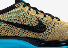 c7acc9028c6a Nike Flyknit Racer - Bright Citrus - Blue Lagoon - SneakerNews.com