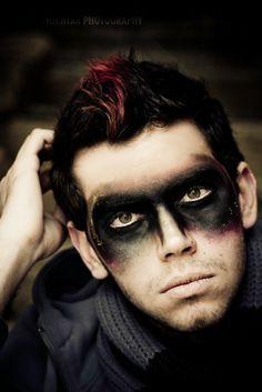 Image result for warrior eye makeup film smudge black