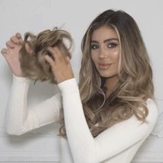 Messy Rose Hair Bun - Hair & Beauty that I love - Cheveux Rose Bun, Rose Hair, Messy Bun Hairstyles, Bride Hairstyles, Everyday Hairstyles, Professional Updo, Curly Bun, Elastic Hair Bands, Synthetic Hair