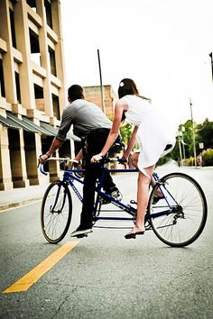 tandem bicycle love