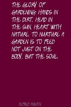 Gardening - It's for  more than just feeding our bodies.  #gardening  #ilovegardening