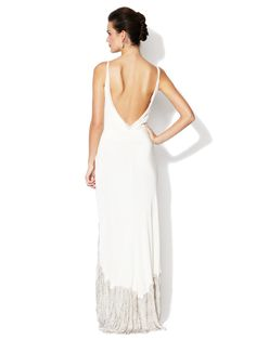Swirling Platinum Gown by BHLDN at Gilt